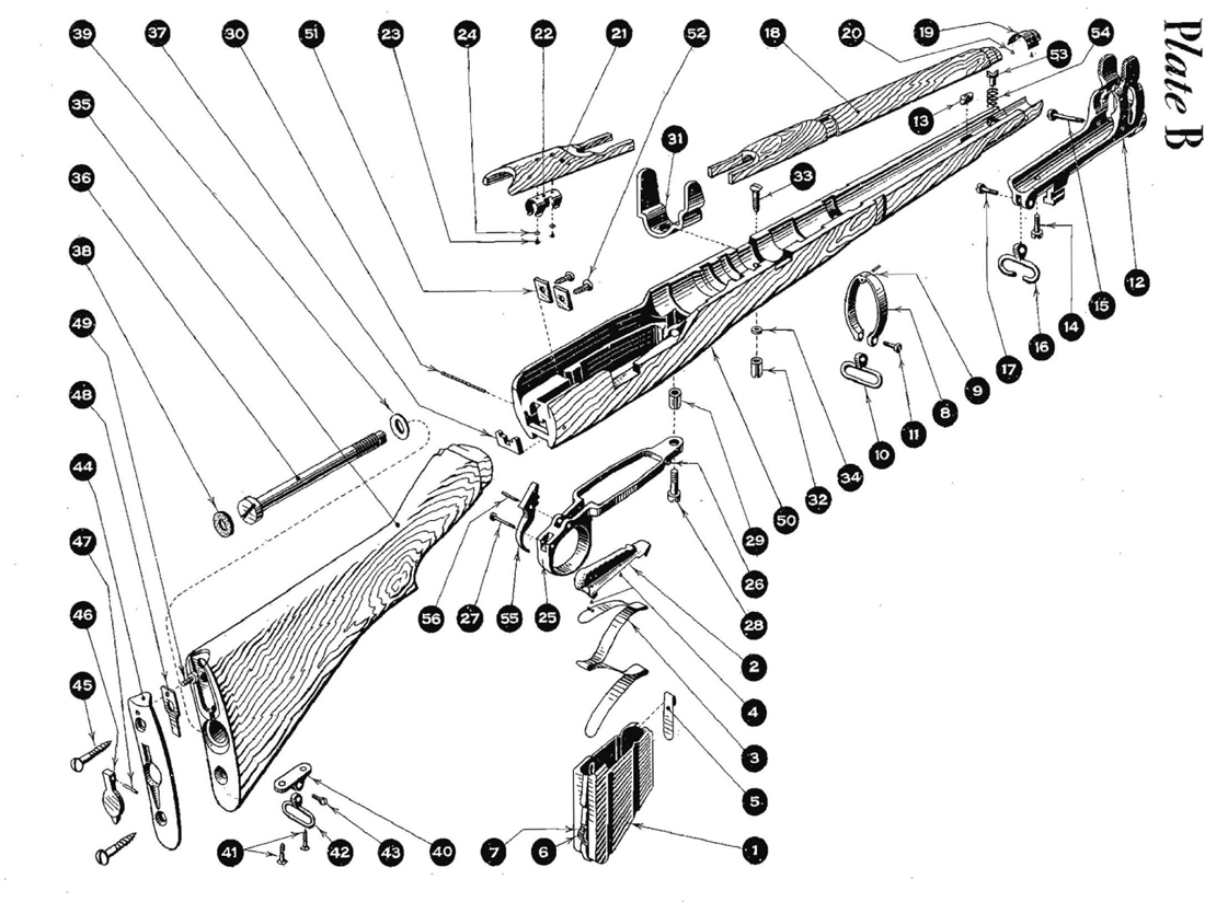 M1903 Springfield Parts Diagram K31 Parts Diagram